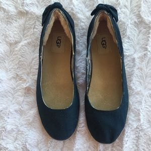 UGG Blue Canvas Perrie Flats
